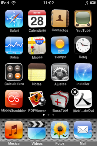 iPod Touch Jailbroked